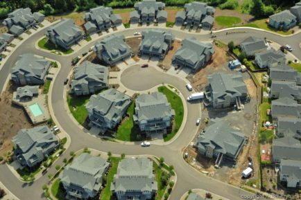 aerial view of suburban neighbourhood - Portland